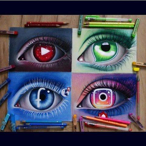 So beautiful!! Social media eyes!! By @nadia_kshl #arts #art #artworks…
