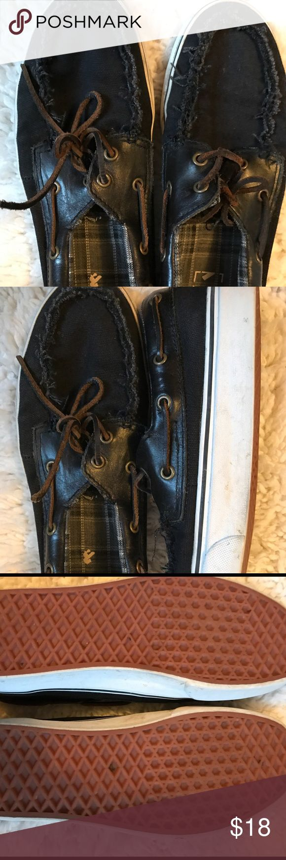 Men's vans boat shoes Good condition vans.  Worn but you can tell by the soles that they are only worn a few times. Vans Shoes Boat Shoes