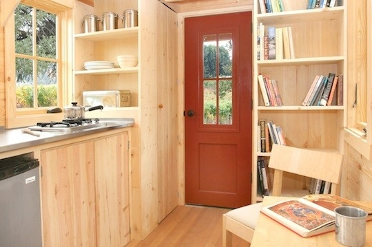 I just love a tiny house.  I could never do it... too much stuff.