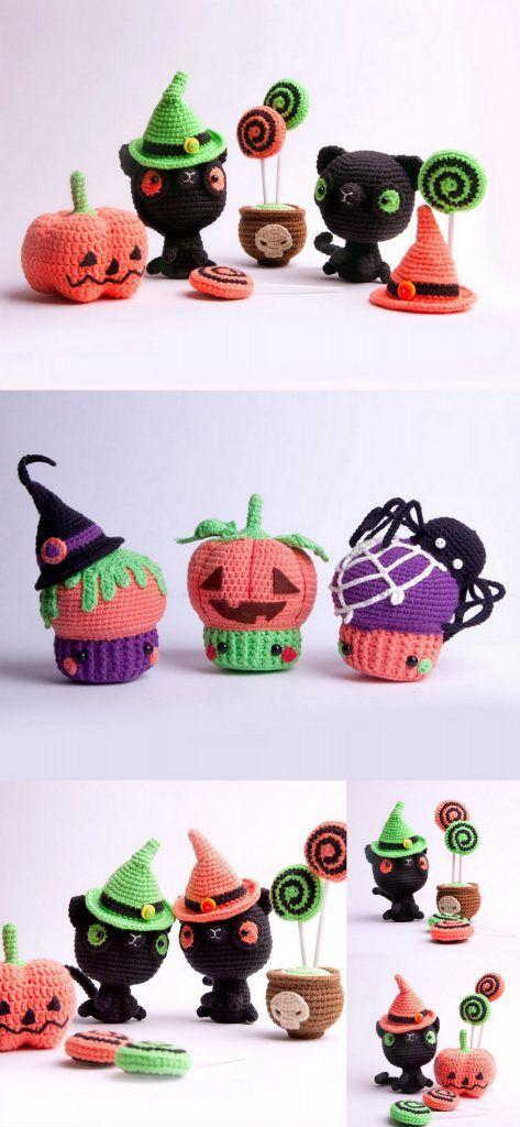 Amigurumi Crochet Happy Hallowen und süße Hexenmuster – Amigurumi