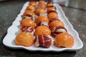 Bombones de jamón y de salmón