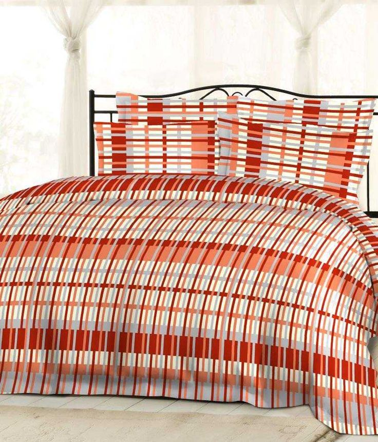 Bombay Dyeing Gardenia Orange And Beige Contemporary Cotton Double Bedsheet With 2 Pillow Covers - Buy Bombay Dyeing Gardenia Orange And Beige Contemporary Cotton Double Bedsheet With 2 Pillow Covers Online at Low Price - Snapdeal