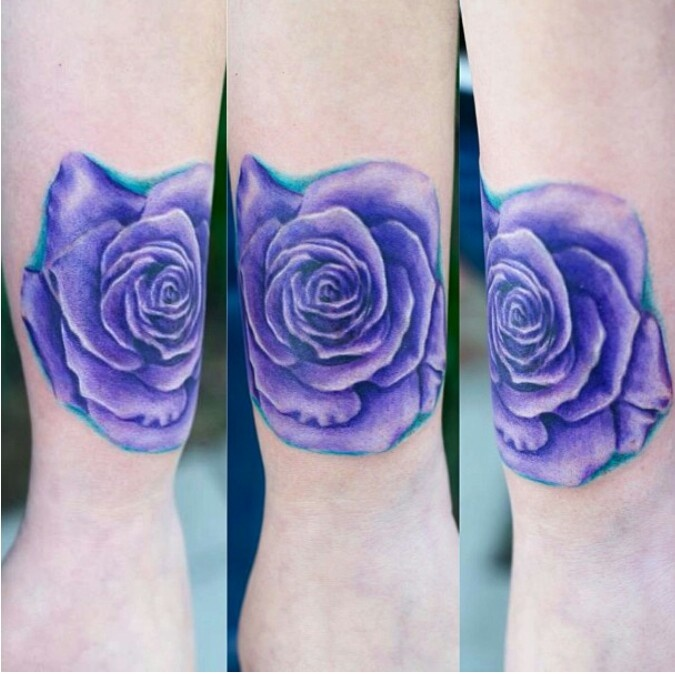 Purple rose tattoo | Tattoos♥ | Pinterest | Colors, The o ...
