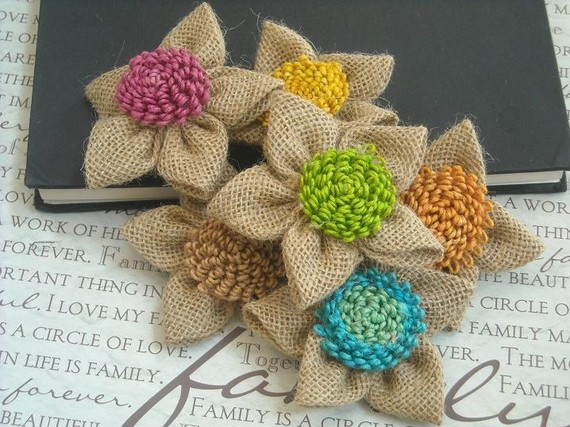 119 best twine and jute projects images on pinterest for How to make hessian flowers