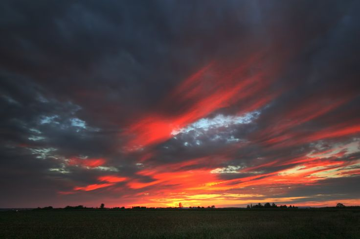 Sunset clouds on Farmview Rd., West Carleton (Ottawa) Ontario.