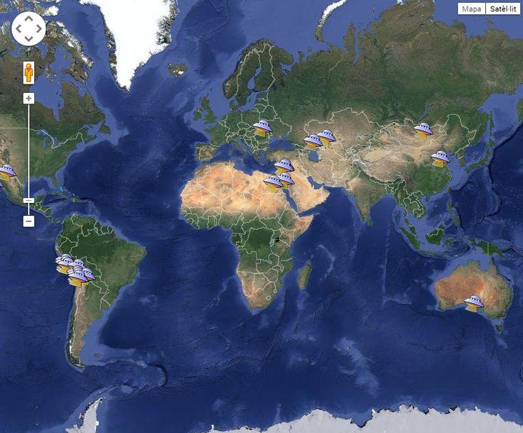 Mapa global de geoglifos (lineas de Nazca etc)