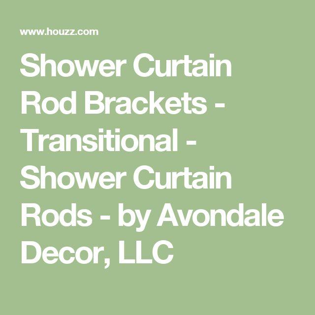 Shower Curtain Rod Brackets - Transitional - Shower Curtain Rods - by Avondale Decor, LLC