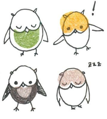 How to draw a whimsy owl <3