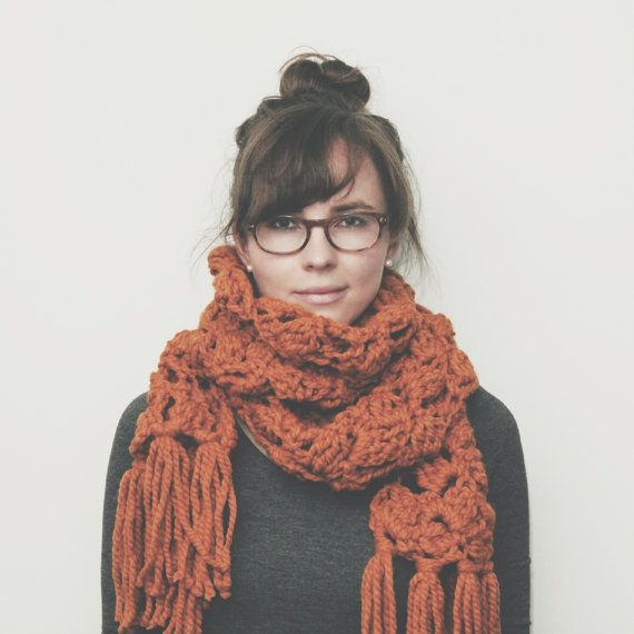 northbound scarf // butterscotch // wool acrylic by lakeandtower, $48.00