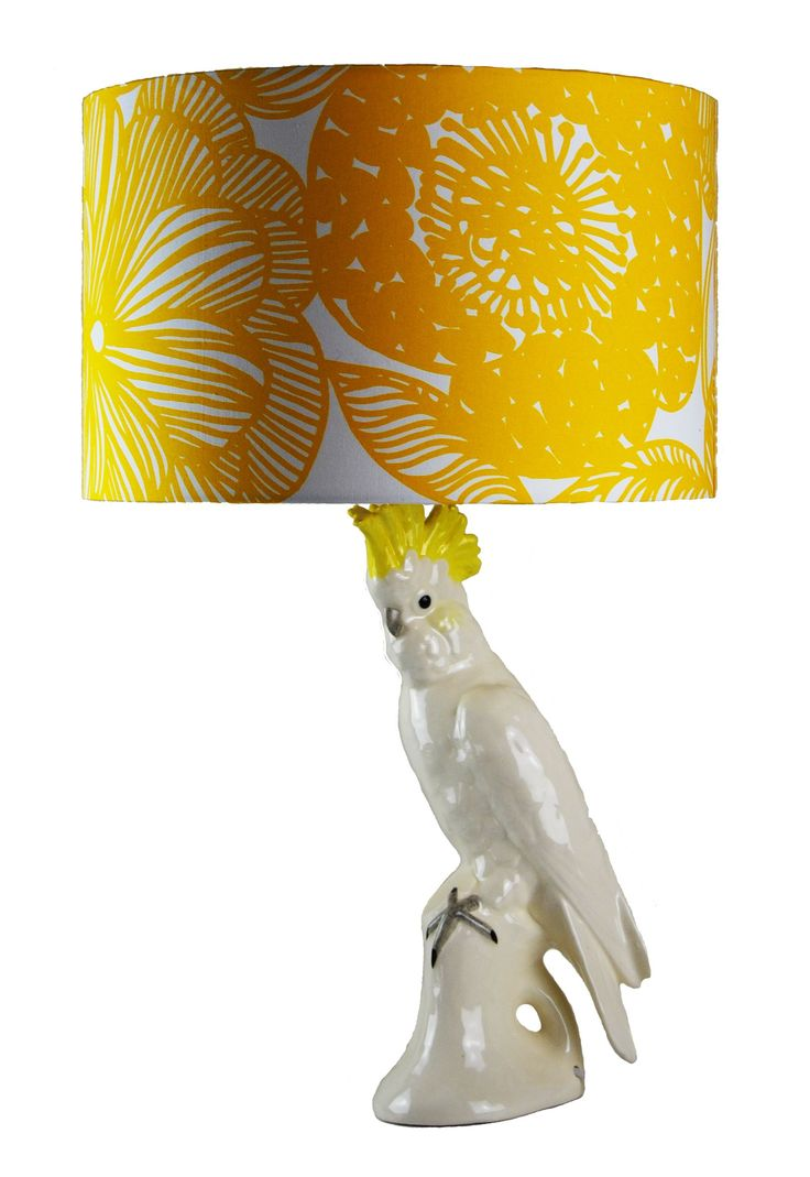 Cockatoo with Yellow Crest Lamp