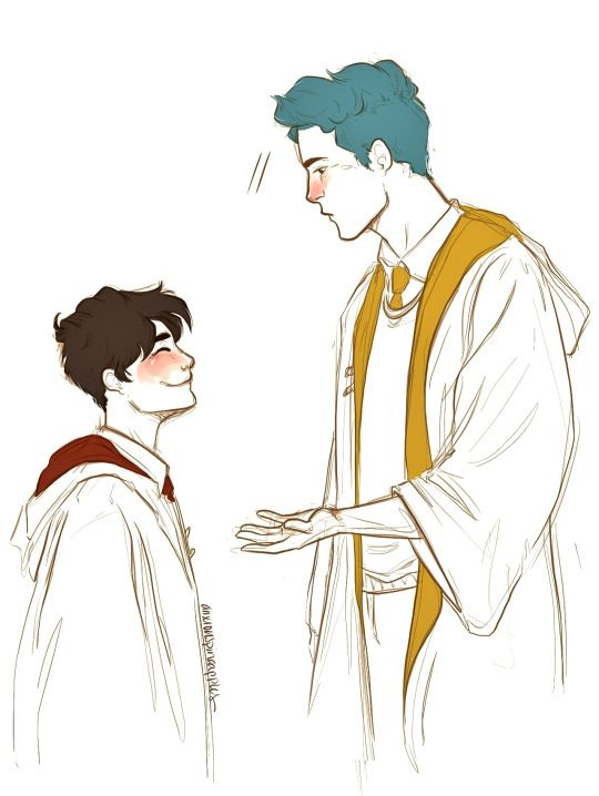 Teddy Lupin and James Sirius Potter - c'mon, James, and I thought we were close