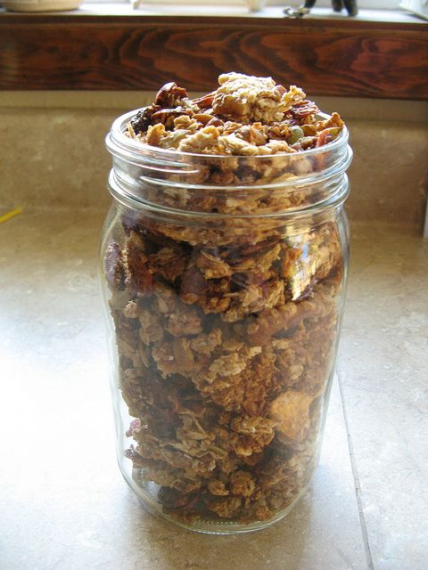 Best granola ever - it is chunky! And you can easily adapt it to whatever fun variety you want - delicious!