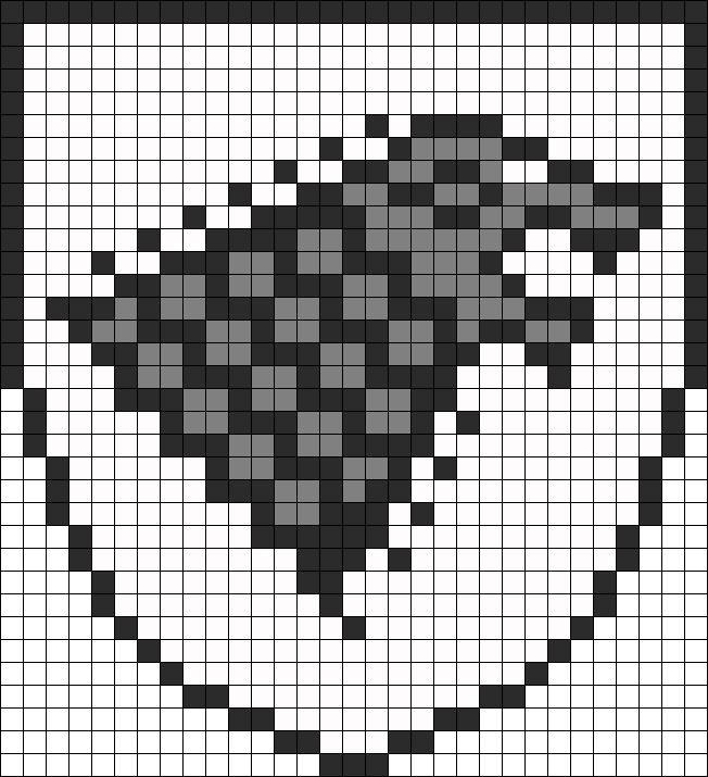 Game Of Thrones Stark Banner perler bead pattern