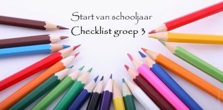 checklist inrichten van klas groep 3