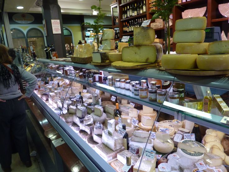 A wonderful range of cheeses at Florence's Mercato Centrale (central market).  A great place to visit even if you aren't buying!!