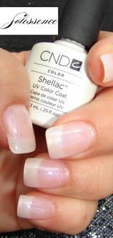 CND - Shellac Nails- the mix of gel and polish lasts longer on your nails without destroying them.
