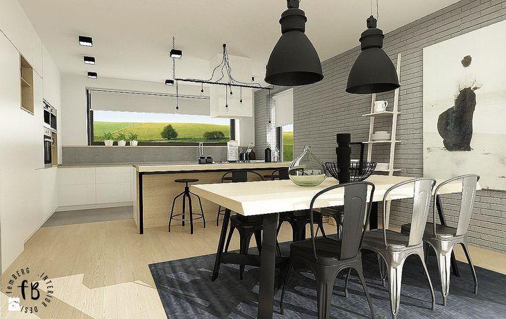 Biała kuchnia - zdjęcie od Femberg Architektura Wnętrz - Kuchnia - Styl Skandynawski - Femberg Architektura Wnętrz