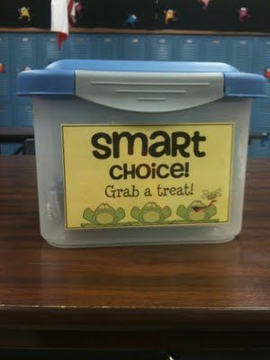 Use a SMART choice bucket to randomly reward students that make smart choices!