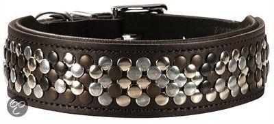 Hunter Halsband Arizona Zwart Nappaleer Zwart Onderlegd - 51-58.5x65x3.9 cm