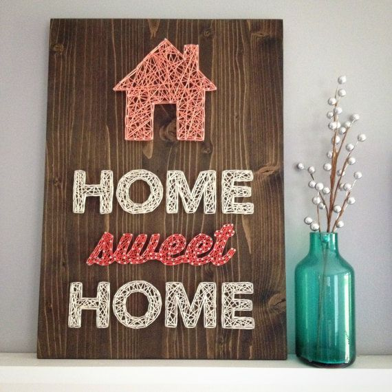 MADE TO ORDER String Art Home Sweet Home Zeichen