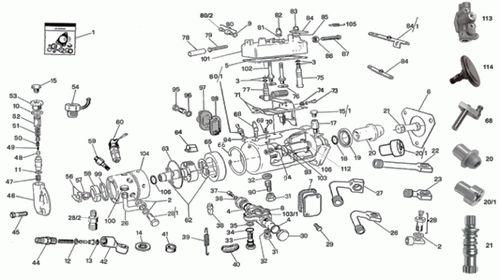 cav injector pump parts diagram