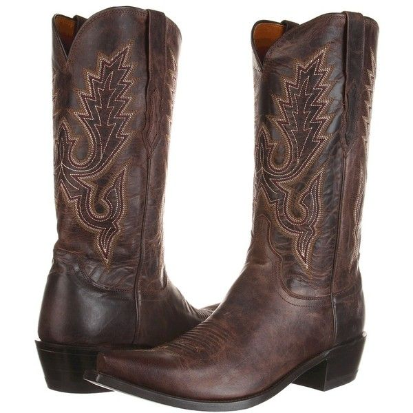Lucchese M1002 (Chocolate Madras Goat) Cowboy Boots ($339) ❤ liked on Polyvore featuring men's fashion, men's shoes, men's boots, mens leopard print shoes, mens slip on shoes, mens slip on boots, mens leather slip on shoes and mens western cowboy boots