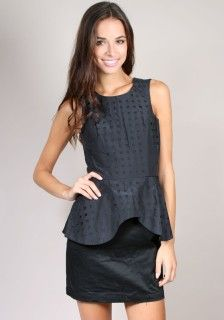 Finders Keepers Beyond The Call Peplum Top  Available at AUDTT.com.au #buyme #shopmywardrobe #forsale #designer #consignment