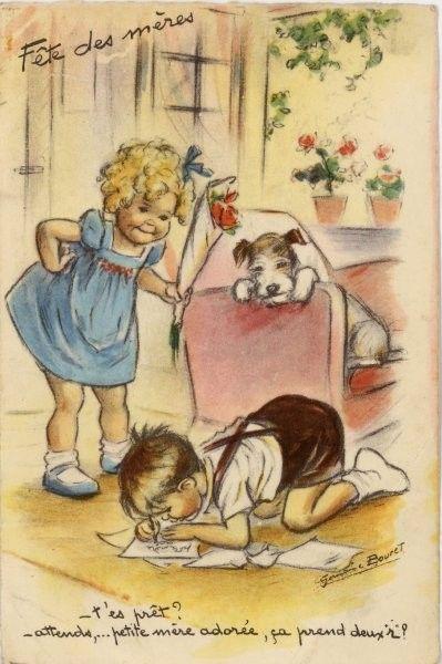 Vintage card - Germaine Bouret