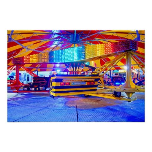 "Arms & Legs :- The ""Twister"" patiently waits for some thrill seekers on the end of Brighton's famous Victorian pier on the south coast of England. This vibrant image of lights and fun will brighten up any day! #waltzer #ride #thrills #excitement #fun #enjoyment #fairground #entertainment #amusement #colorful #brighton #england #fair #spin #rotate #carousel"