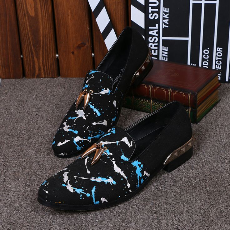Christia Bella Mode Wildleder Männer Schuhe Luxus Niet Männer Müßiggänger Partei Bankett Männer Kleid Schuhe Geschäftsleute Flache Schuhe //Price: $US $82.00 & FREE Shipping //     #clknetwork