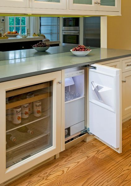 Built-in ice maker, separate from fridge. Traditional Kitchen by Superior Woodcraft, Inc.