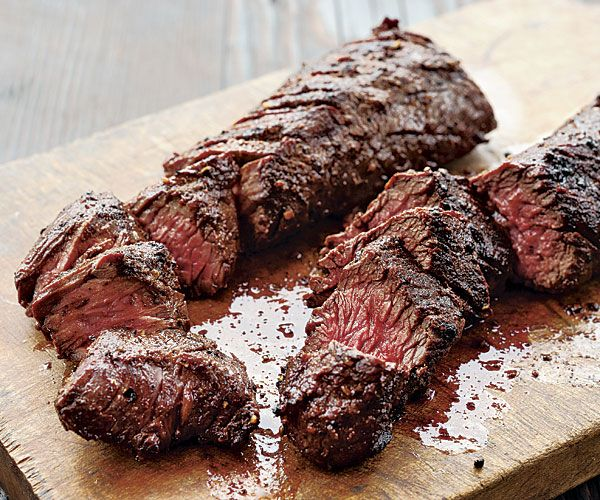 Grilled Spice-Rubbed Hanger Steak - Despite all of the spices in it, this toasty rub doesn't overwhelm, it enhances the flavorful hanger steak. The recipe makes more spice rub then you'll need for one steak, but it keeps for up to 1 month in an airtight container. by Parke Ulrich from Fine Cooking Issue 129