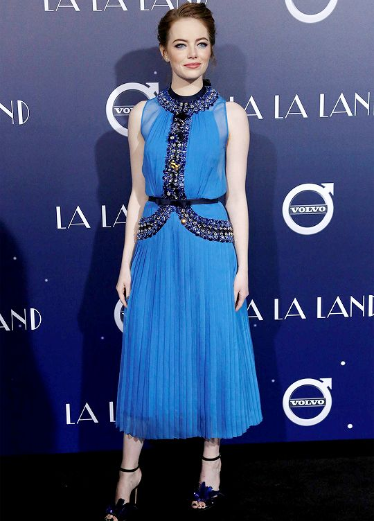 "Emma Stone at Premiere Of Lionsgate's ""La La Land"" held at Mann Village Theatre on December 06, 2016 in Westwood, California."