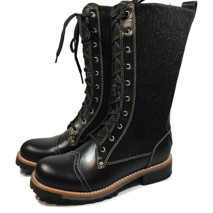 Woolrich Leather & Wool Santa Fe Mid-Calf Women Combat Boots SIZE 6 | eBay