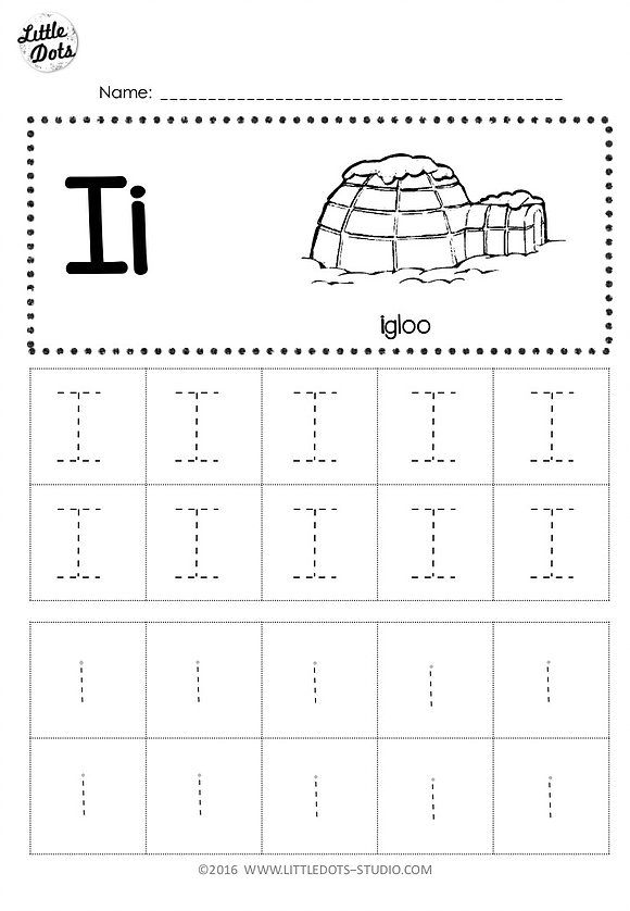 Free Letter I Tracing Worksheets Tracing Worksheets Preschool Alphabet Worksheets Preschool Printable Preschool Worksheets