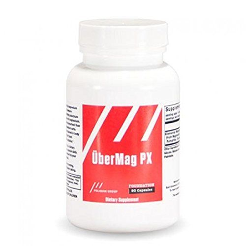 Poliquin Group, Ubermag Px, 90 capsules:   Our unique magnesium formula combines four different chelates of magnesium for optimal absorption. Chelates are far better absorbed than the inexpensive magnesium salts. They are also better retained in body tissue. Magnesium, a mineral found abundantly in the human body, is involved in hundreds of essential biochemical reactions that keep the body functioning properly. It is one of the body's most essential minerals and plays a role in protei...