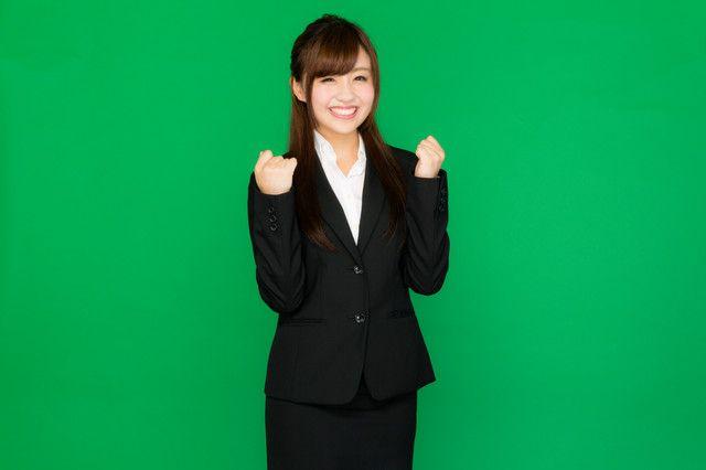 「お仕事、頑張っていきましょう!(グリーンバック)」のフリー写真素材