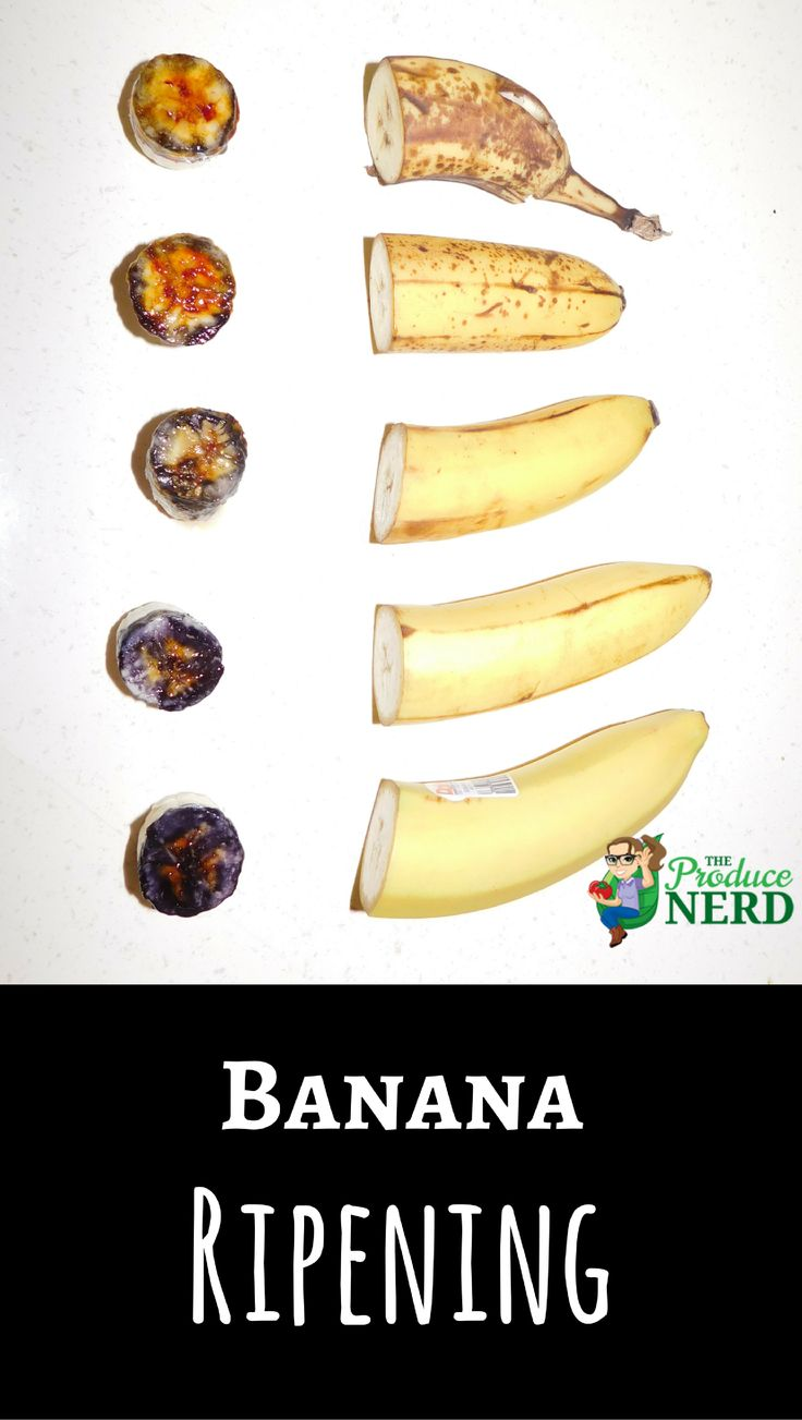 Banana Ripening. See how bananas ripen internally and externally and which banana is right for you. #bananaripening #bananaripeness #banana