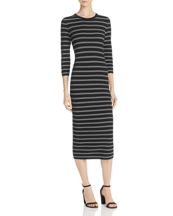 Theory striped jersey maxi dress