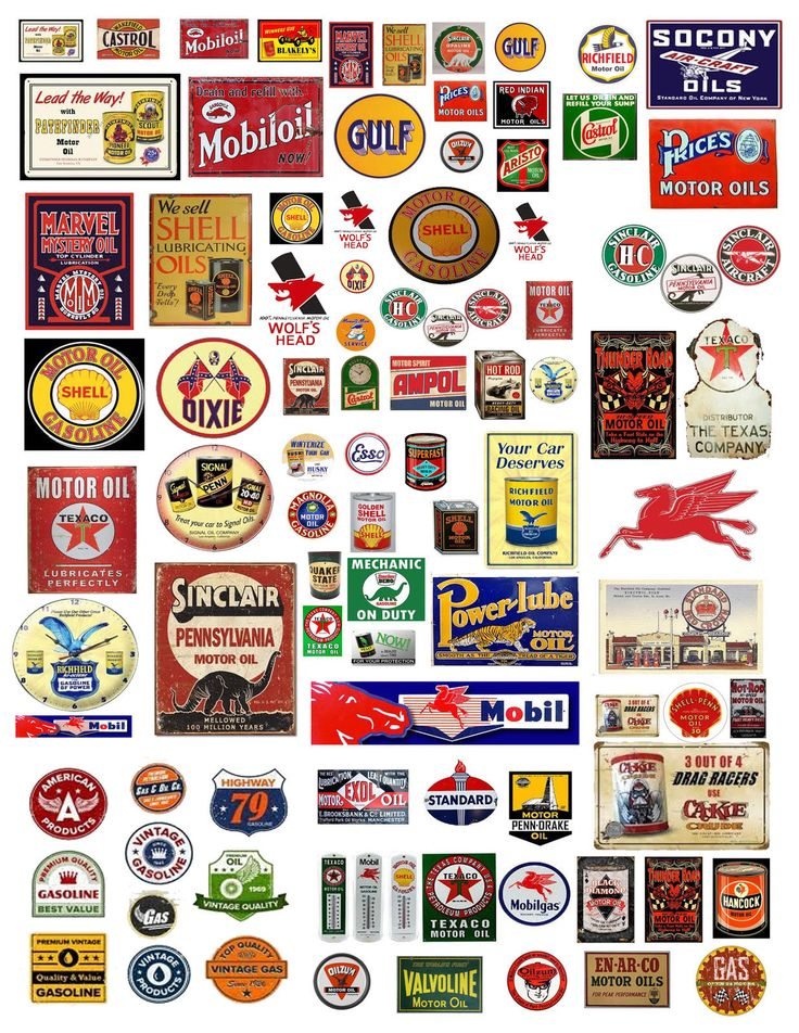 1: 24 1:18 VINTAGE OIL GAS SIGN DECALS FOR DIECAST & MODEL CARS DIORAMAS
