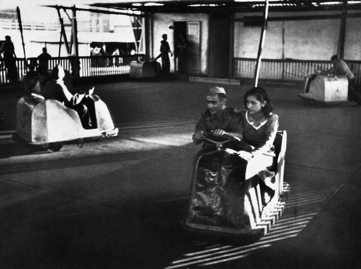 SPAIN. Amusement park in Barcelona. July 1936