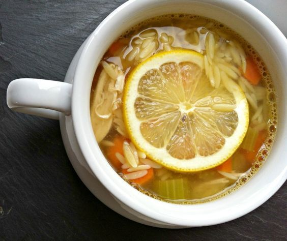 Lemon Chicken Orzo Soup: lemony and great for your immune system this soup warms the soul. Use your leftover chicken in this soup! // A Cedar Spoon