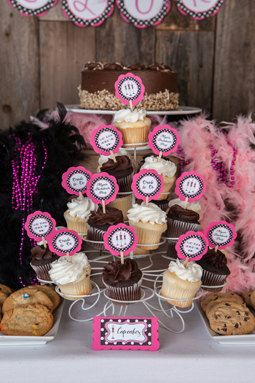 Lingerie Theme Bachelorette Party Cupcake by getthepartystarted, $11.00. For more party decorations visit www.getthepartystarted.etsy.com
