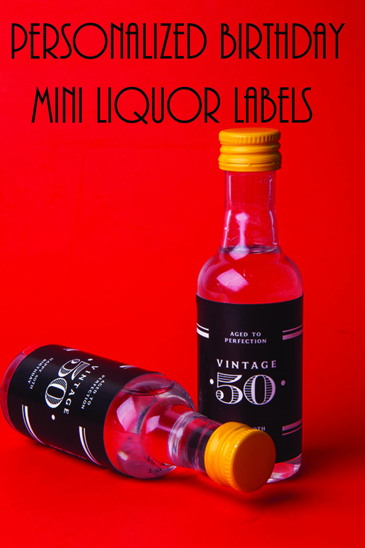 Who doesn't love a little liquor for their birthday and to add a personalized label that would be over the top! luckily we can help you out check these out and get your drink on! - birthday favors for adults - mini liquor labels - mini liquor - birthday favors - milestone birthday ideas - birthday decor - custom favors - 50th birthday