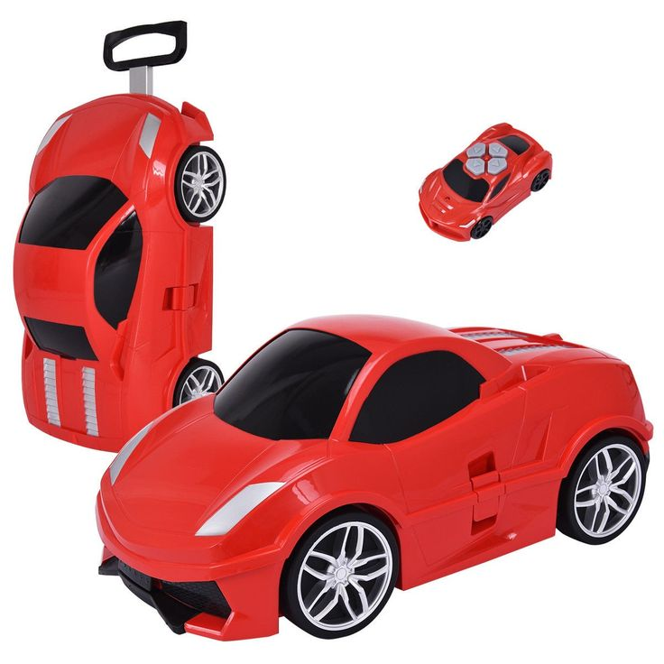 2.4 G Radio Control Kid Car Shape Travel Trolley Suitcase