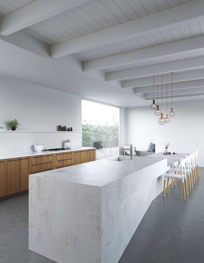 Une cuisine design aux volumes XXL