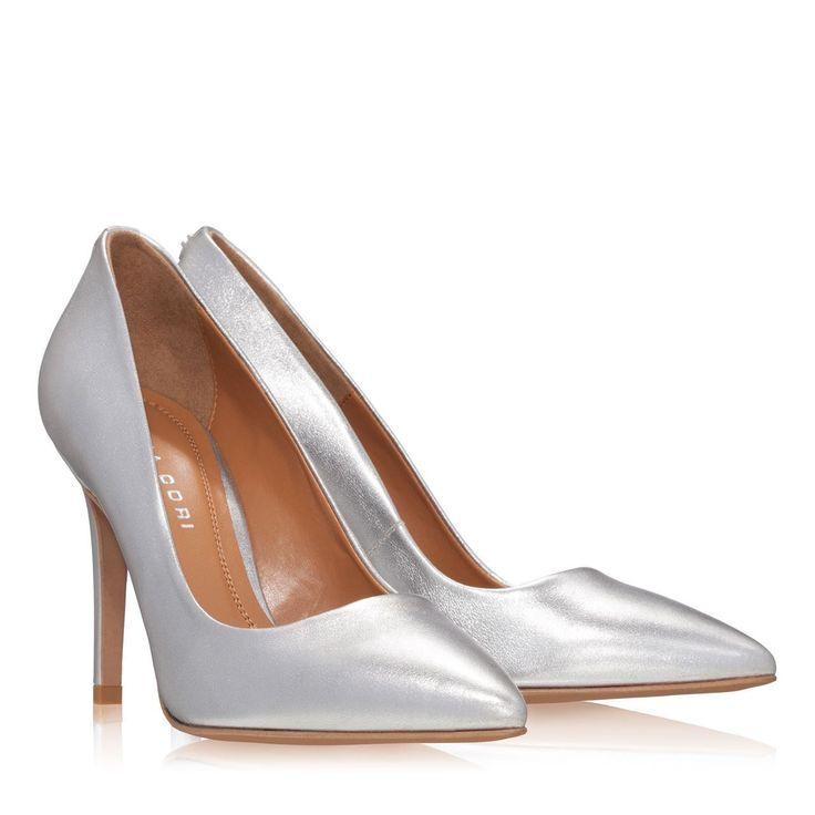 Pantofi Dama Argintii 2065 Piele Laminata