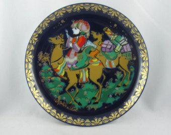 SINBAD VII. Sinbad il marinaio. ROSENTHAL studio-line. Bjorn Wiinblad raccolta piatto. Sinbad porta Harun al Rashid doni. Vintage