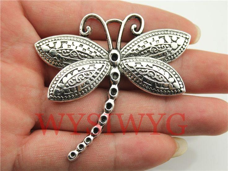 Aliexpress.com: Comprar Wysiwyg 1 unids 60 * 58 mm plata antigua encantos de la libélula de plata conejo encanto fiable proveedores en WYSIWYG STORE
