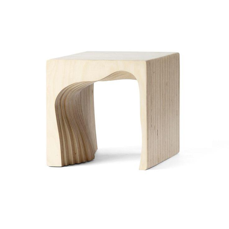 Деревянный необычный табурет в эко стиле, фанера (Kiddy Archpole) Фанера 20x20x20 см. Российская Федерация купить в интернет-магазине The Furnish